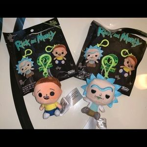 Rick And Morty Mystery Mini Funko Plush Keychain